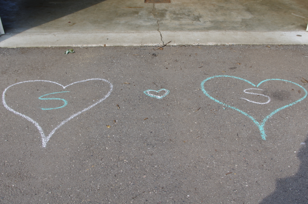More hearts on the sidewalk