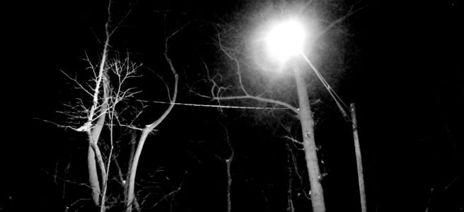 Street light at night